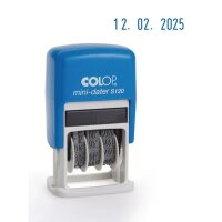 Датер автоматический Colop S120 Bank шрифт 3.8 мм месяц цифр мини пластиковый